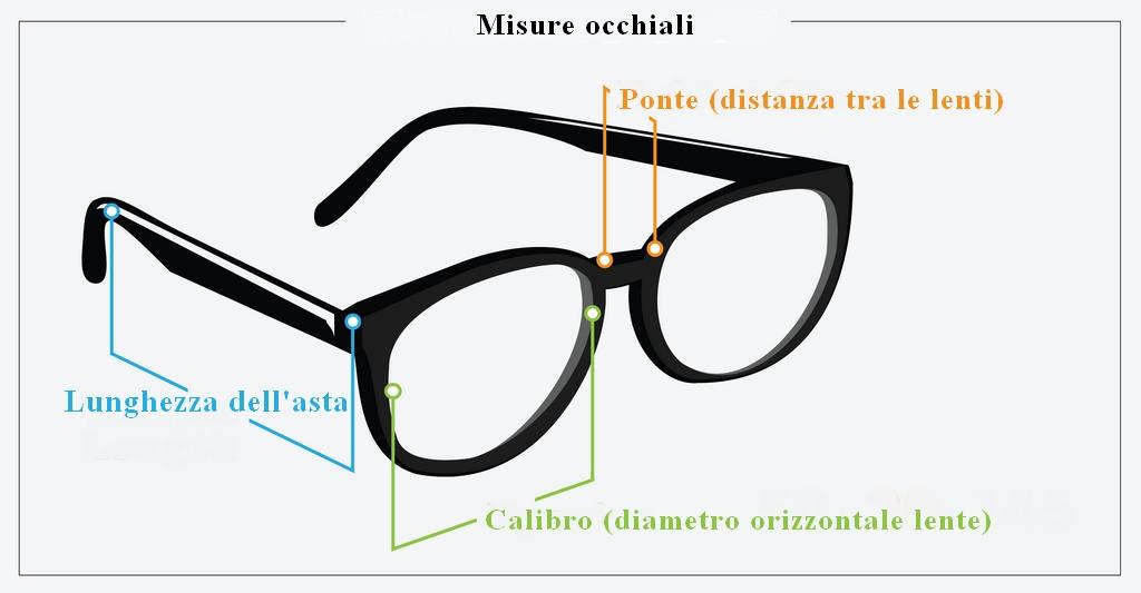 Misure Occhiali